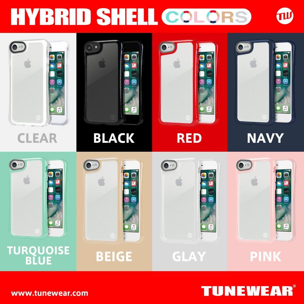 カラーバリエーションが追加されたオリジナルカスタマイズ可能なTUNEWEARのHYBRID SHELL